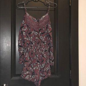 d2989fbd52e Charlotte Russe Dresses - Paisley cold-shoulder Charlotte Russe romper